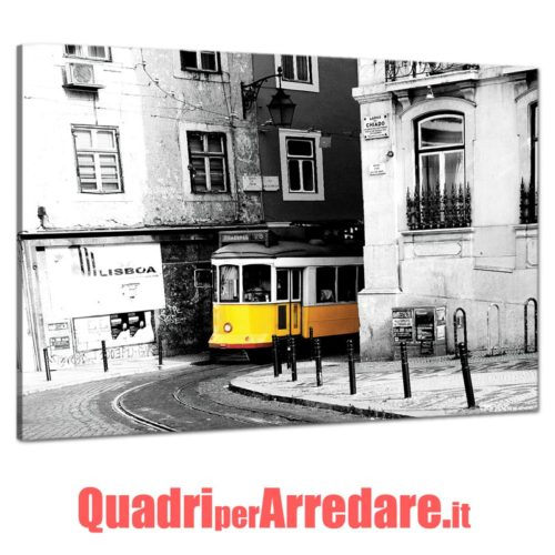 Tram giallo lisbona quadro moderno