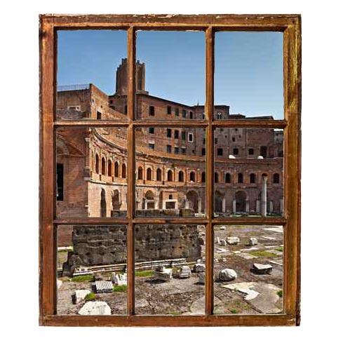Trompe l'oeil finestre sul mercato traiano Roma