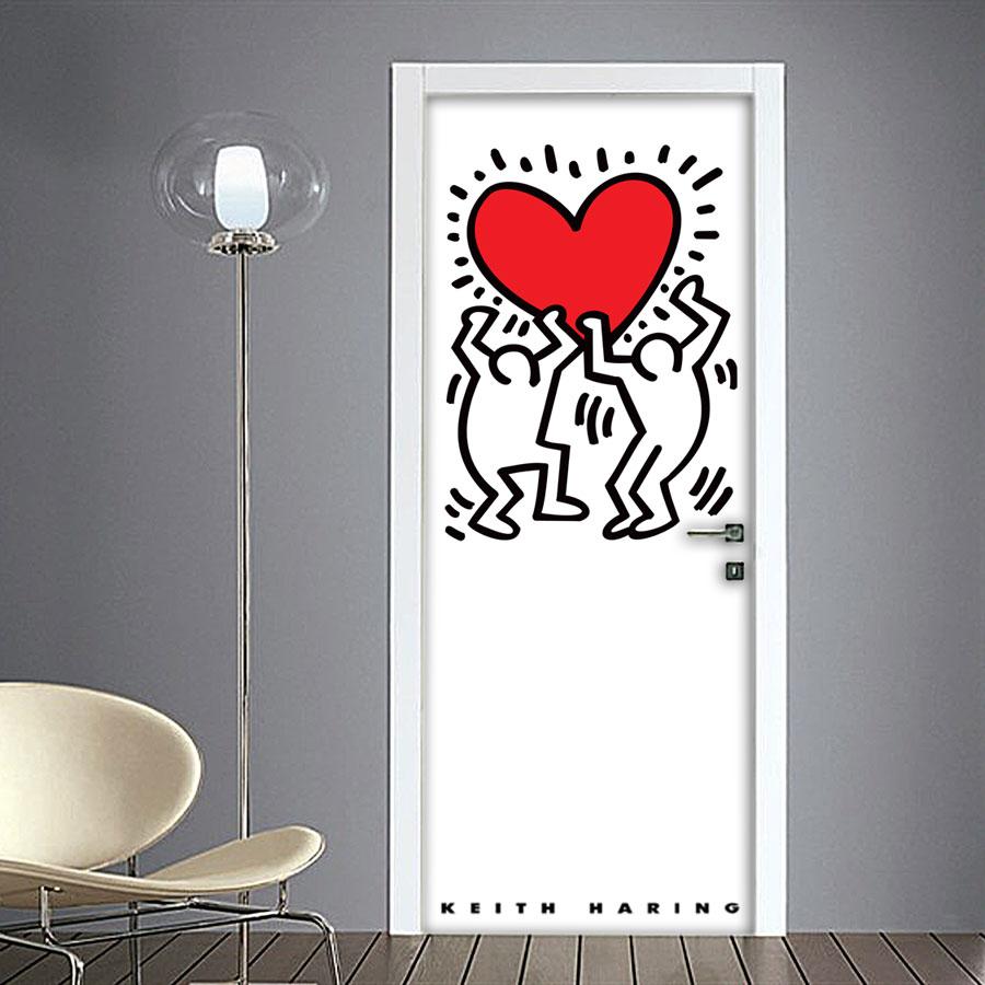 Keith Haring: adesivo per porta