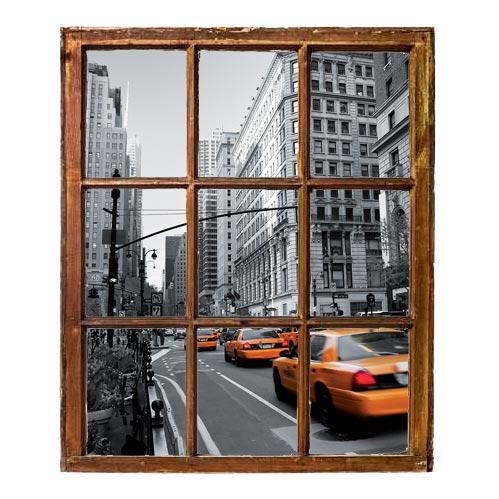 Trompe oeil adesivo taxy New York