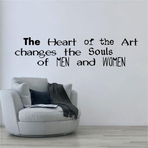 Adesivo murale heart of art