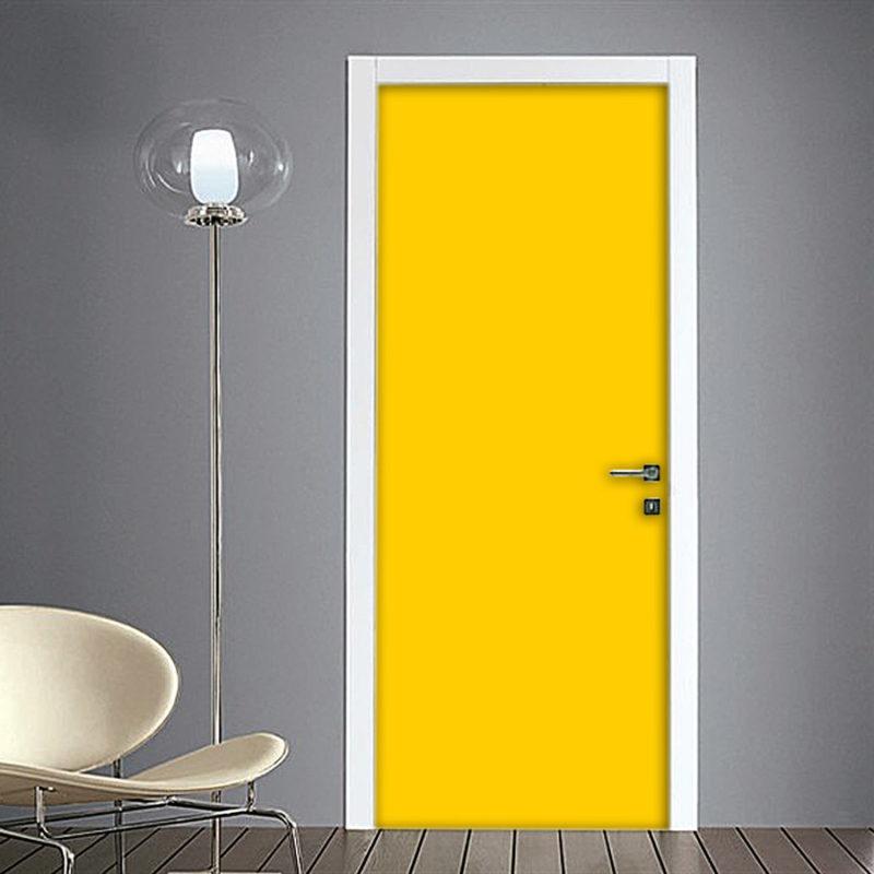 Adesivo per porta colore giallo