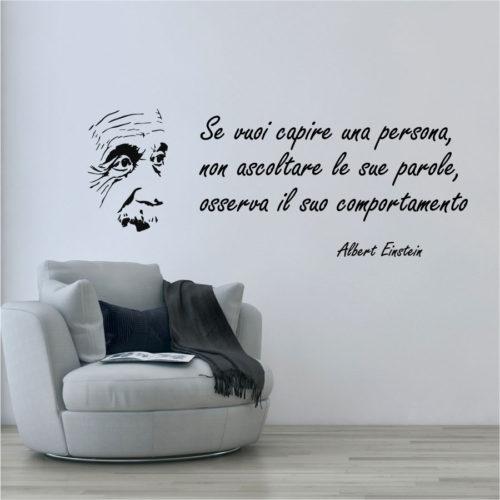 Albert Einstein adesivi murali frasi famose