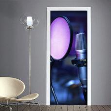 Microfono cantante adesivo per porta