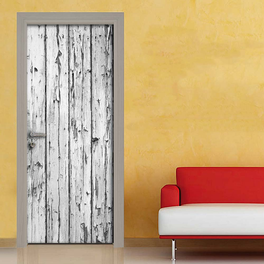 Effetto vintage legno rovinato adesivo per porta - Porte shabby chic ...
