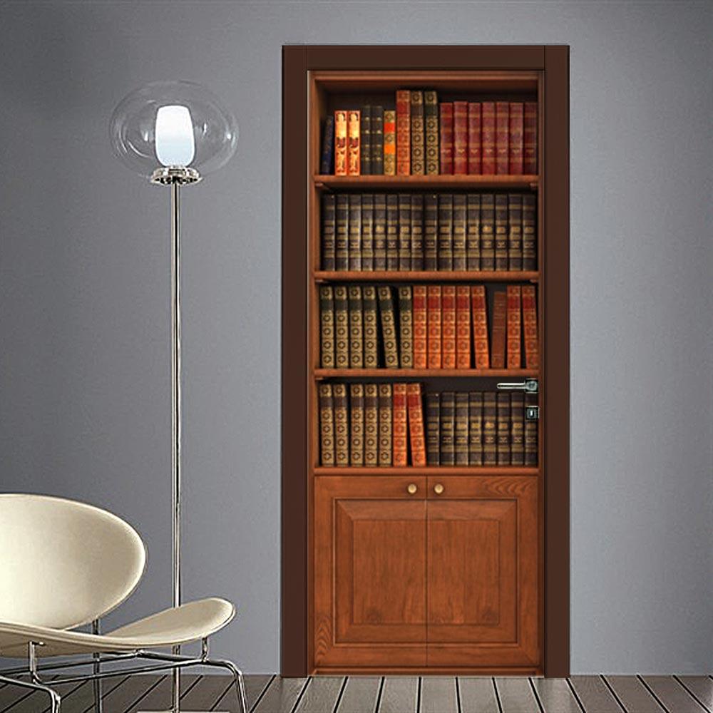 Adesivo finta libreria classica per porta - Adesivi per decorare mobili ...