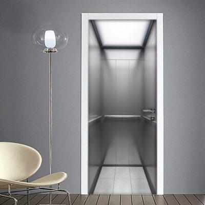 Ascensore interno: adesivo porta