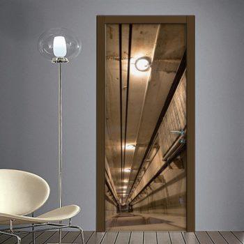 Tromba ascensore: adesivo porte