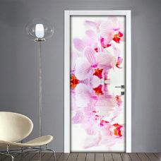 Orchidea adesivo per porta