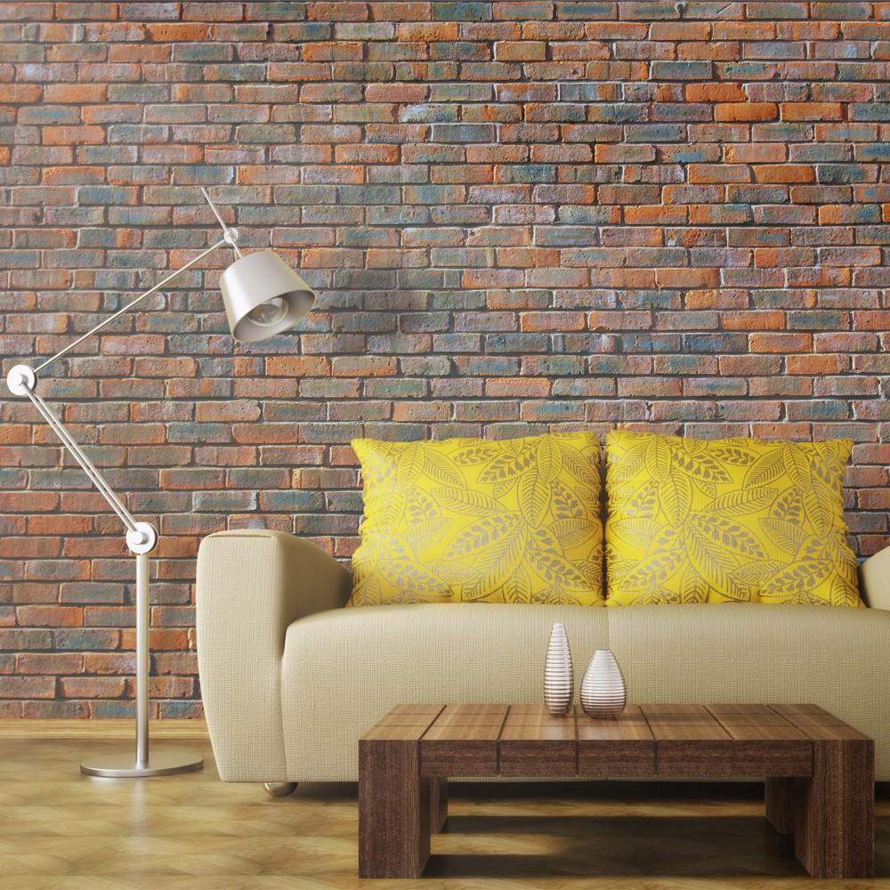 Fotomurale muro di mattoncini for Greche adesive da muro