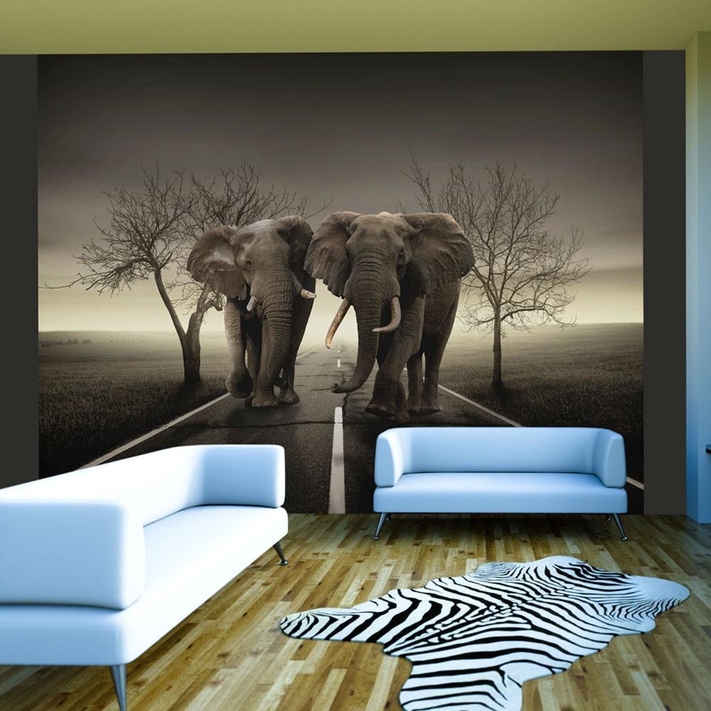 Fotomurale citt degli elefanti for Carta da parati 3d animali