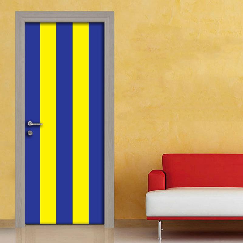 Adesivo porta righe blu giallo