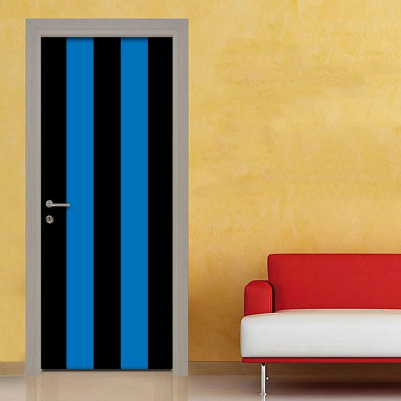 Adesivo porta righe nero blu