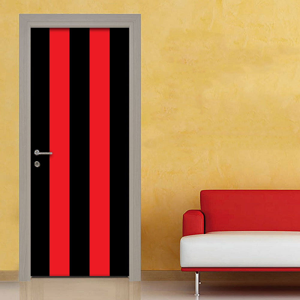 Adesivo porta righe nero rosso
