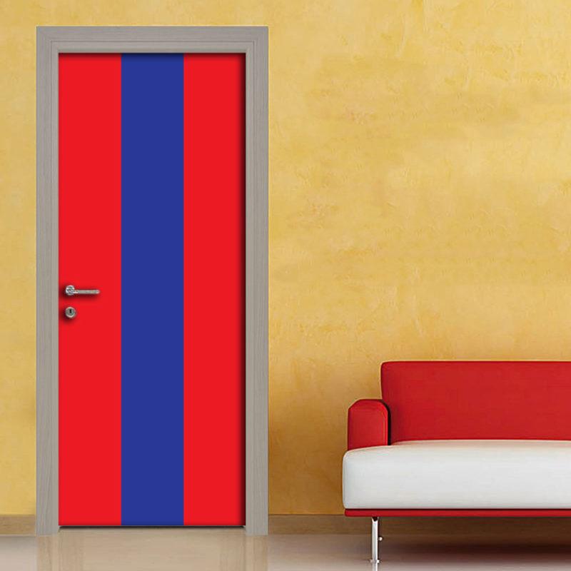 Adesivo porta righe rosso blu rosso