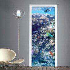 Adesivo porte: acquario con pesci