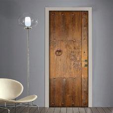 Adesivo per porte con portone vecchio in legno vintage