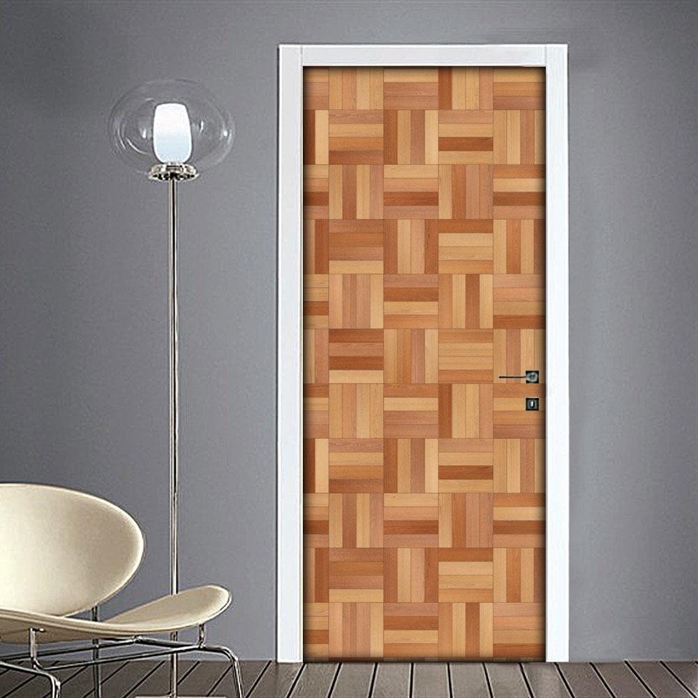 Adesivo per porta effetto legno quadri for Laminato adesivo