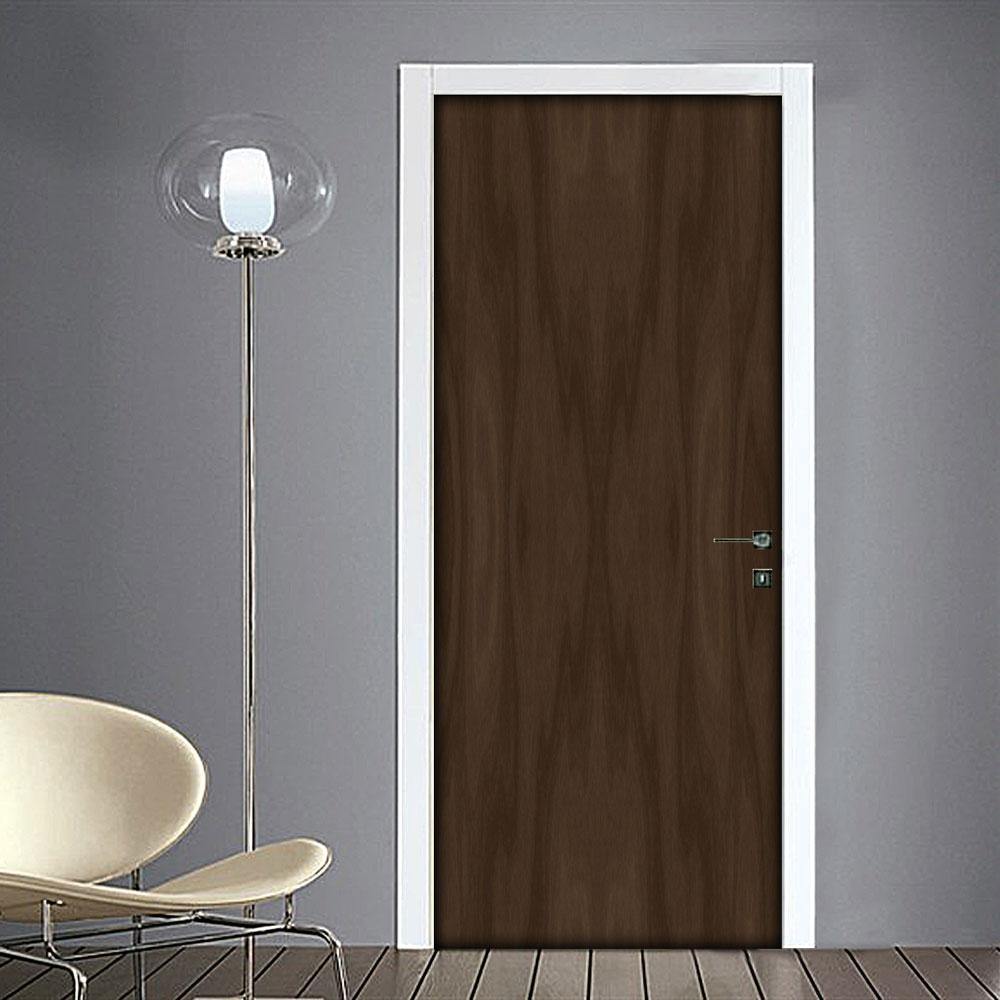 Adesivo per porta effetto legno scuro for Adesivi per porte in legno