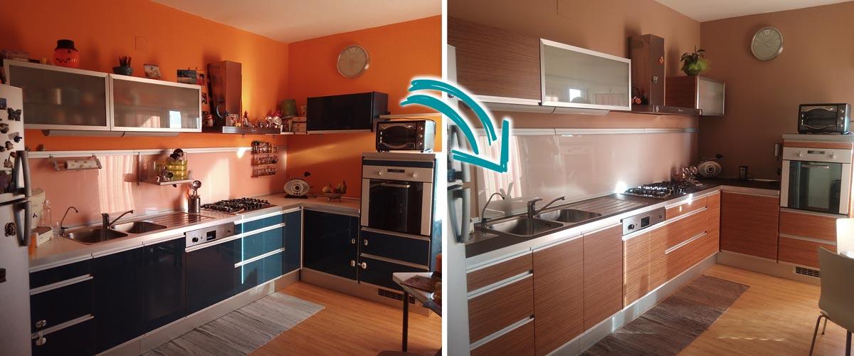 Cambia colore facilmente alla porta blindata facile e - Rinnovare ante cucina ...