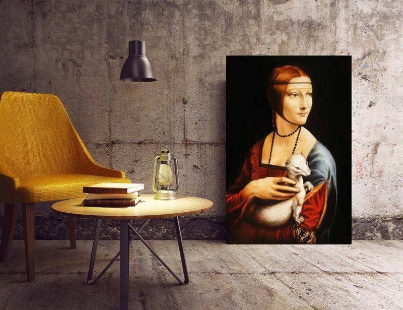 Quadro Dama con Ermellino di Leonardo Da Vinci