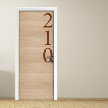 Adesivo per porte: Hotel e Ufficio con effetto legno