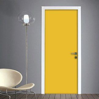 Adesivo porta giallo senape su Quadriperarredare