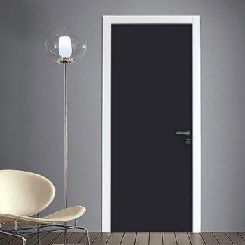 Adesivo porta grigio antracite tinta unita su quadriperarredare