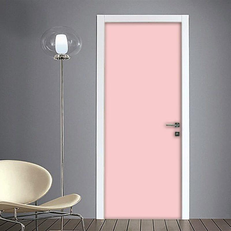 Adesivo porta rosa quarzo (millennials pink) su Quadriperarredare