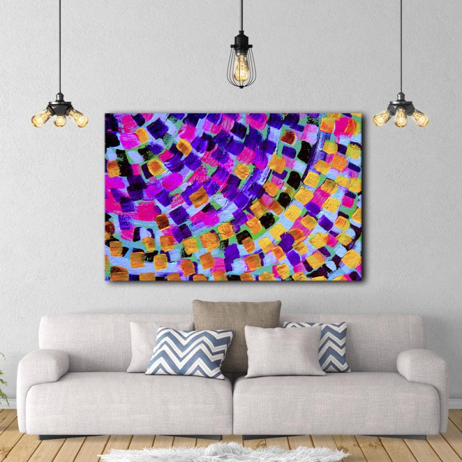Chiara Magni: Abstract rainbow canvas