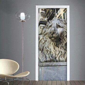 Adesivo per porta: Genova leone nella Cattedrale di San Lorenzo