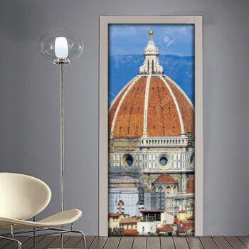 Adesivo per porta Firenze: vista sulla Cupola della Cattedrale di Santa Maria in Fiore