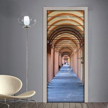 Adesivo per porta: Bologna portico del santuario di San Luca