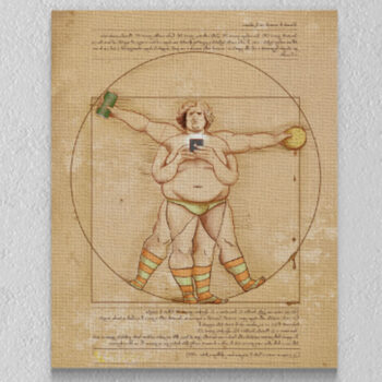 Uomo vitruviano di Leonardo Da Vinci - Falso d'Autore