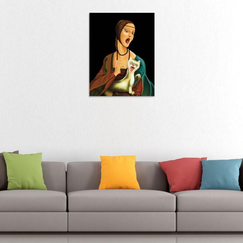 Dama con Ermellino - Falso d'Autore Apinacoteca