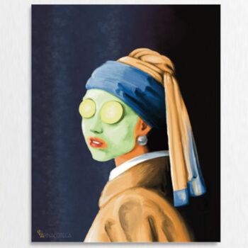 Ragazza con orecchino di perla di Jan Vermeer - Falso d'Autore