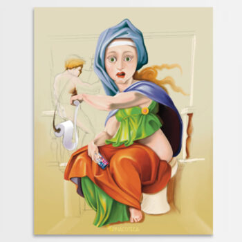 Sibilla Delfica di Michelangelo - Falso d'Autore